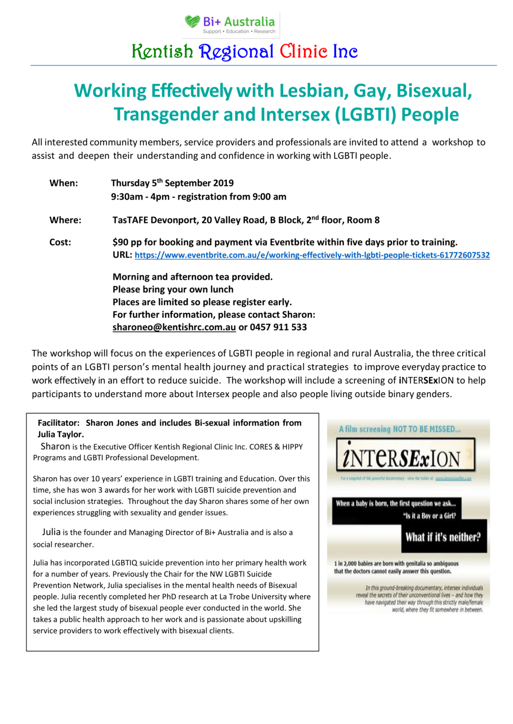 training-dates- working-with-LGBTI-Devonport