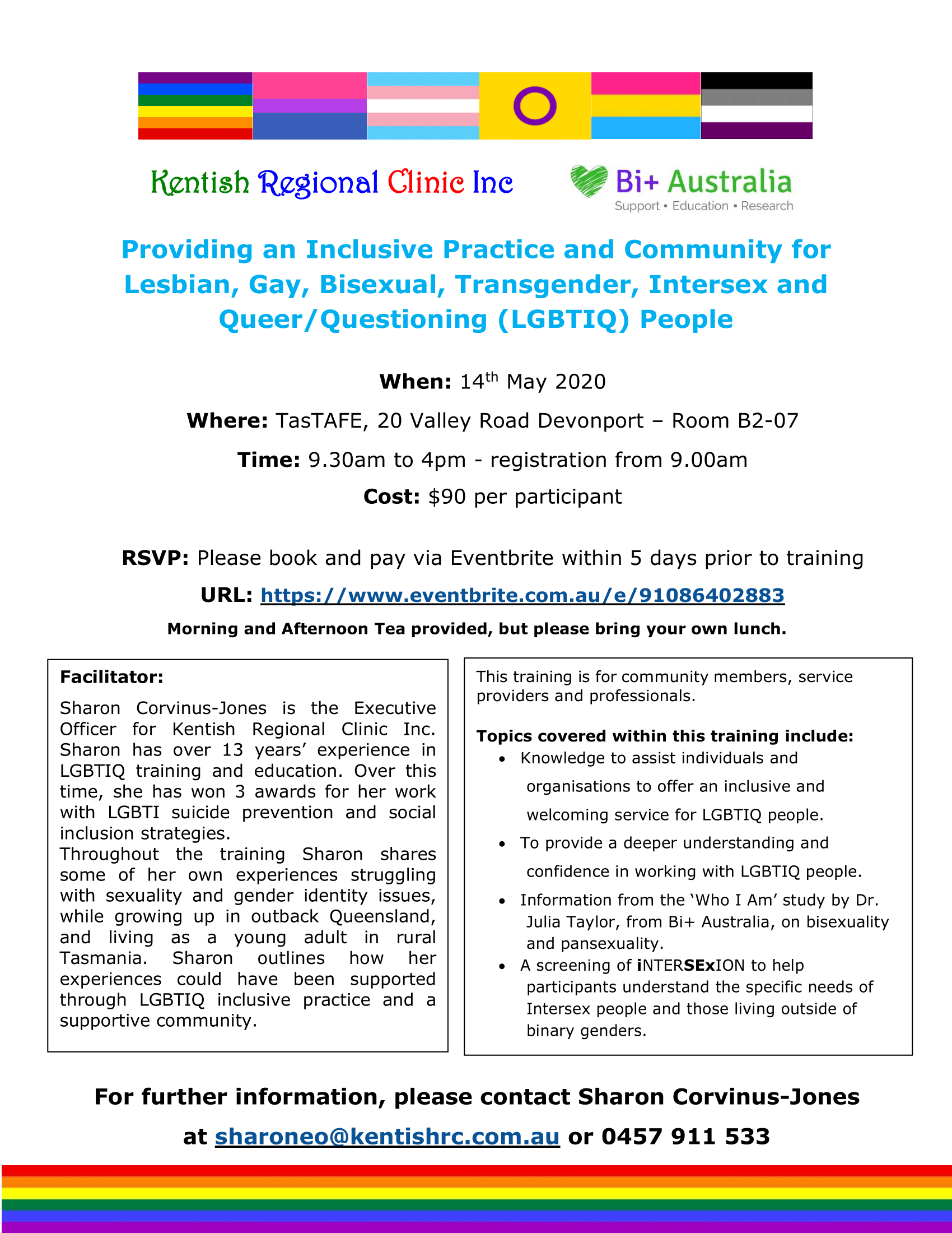LGBTI Training Flyer 2020 Devonport-fb