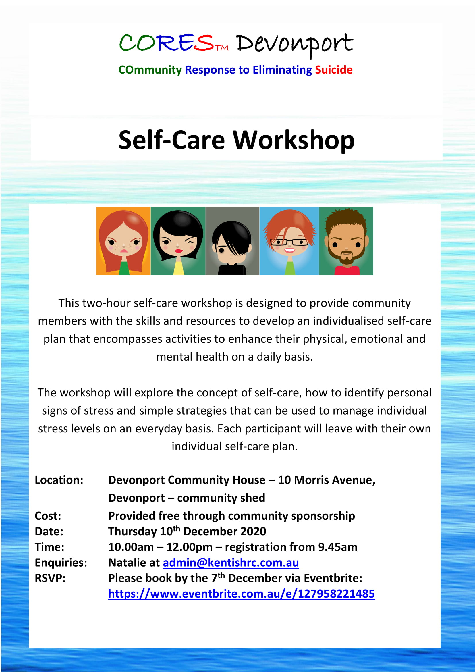 CORES Self-Care Devonport December 2020 fb