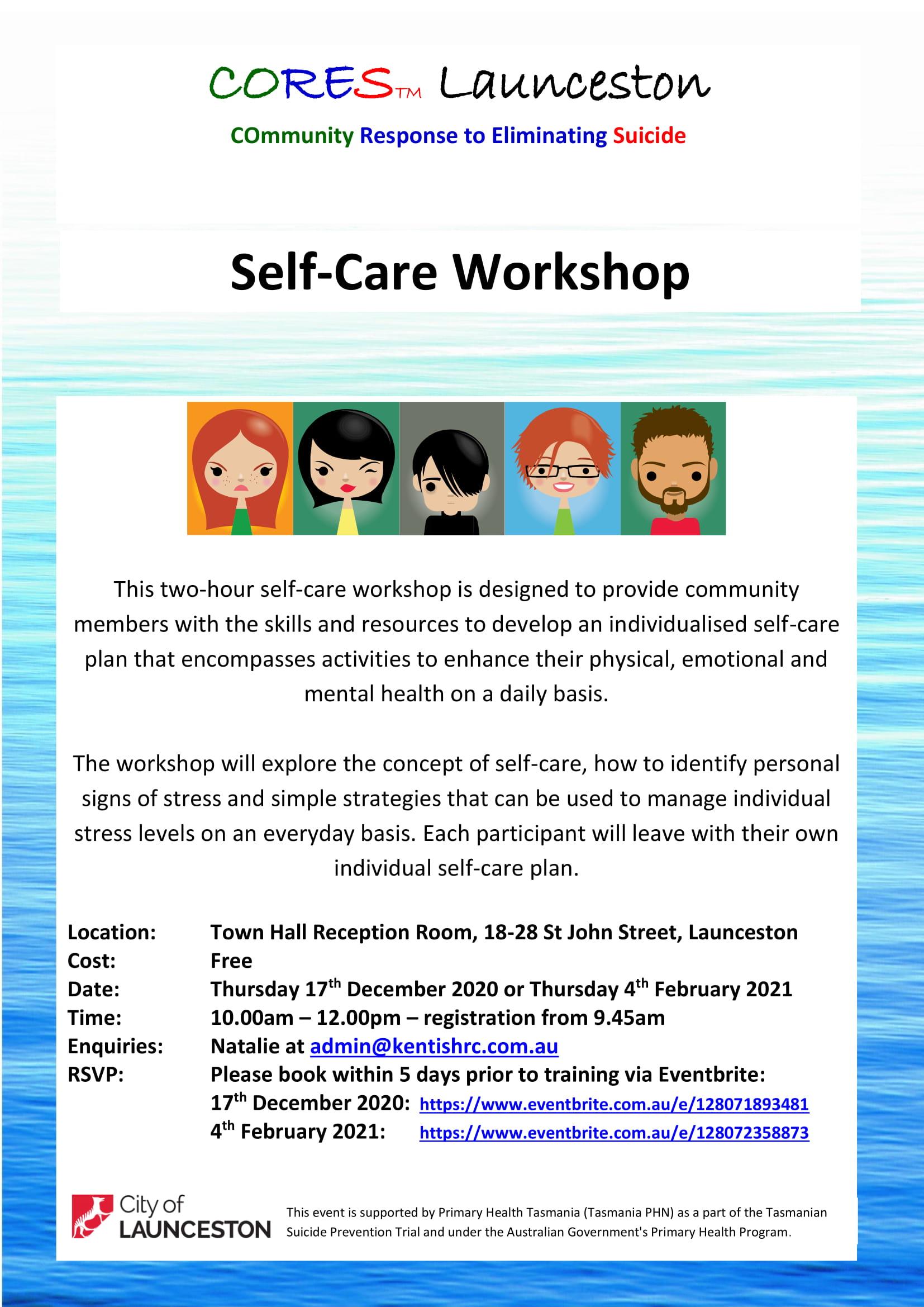 CORES Self-Care Launceston Dec 2020 Feb 2021 fb