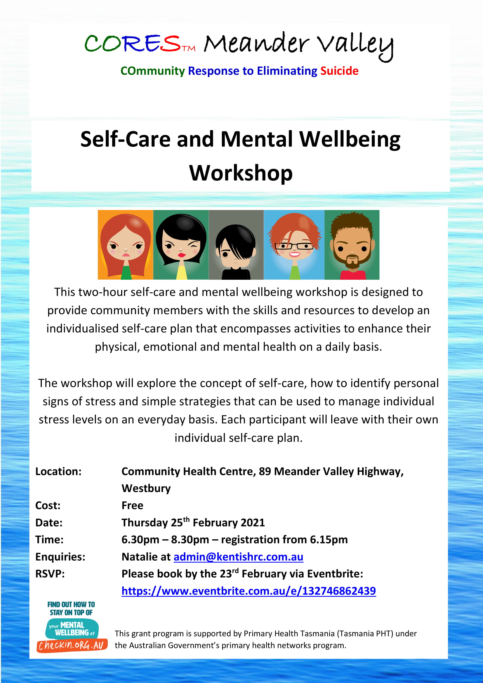 CORES Self-Care and Mental Wellbeing Westbury Feb 2021 fb