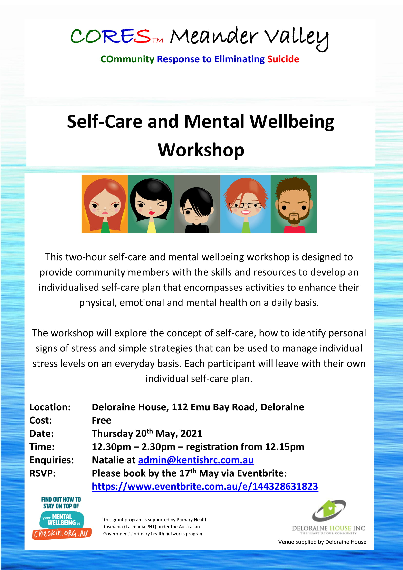 CORES Self-Care and Mental Wellbeing Deloraine May 2021 fb