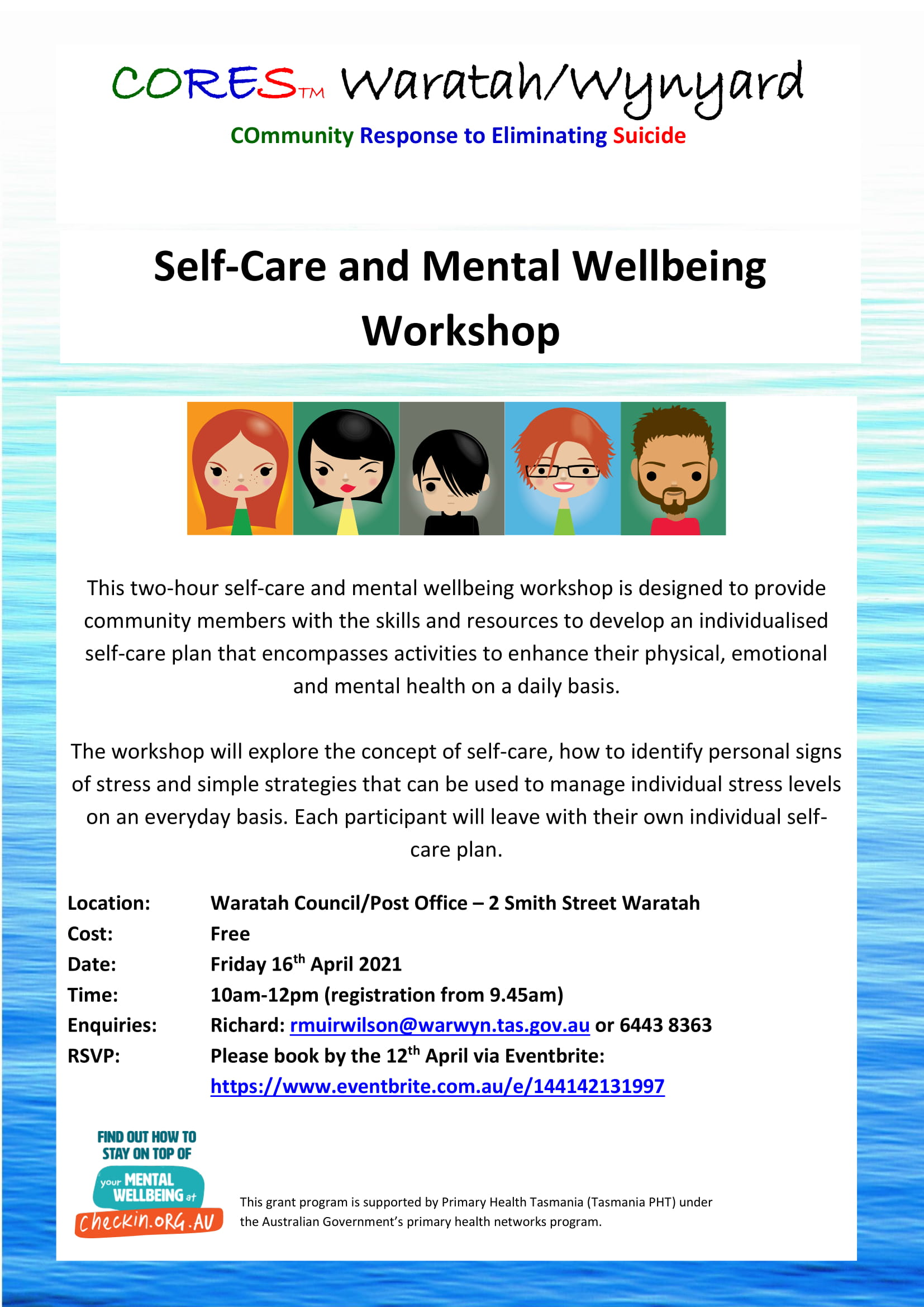CORES Self-Care and Mental Wellbeing Waratah April 2021 fb