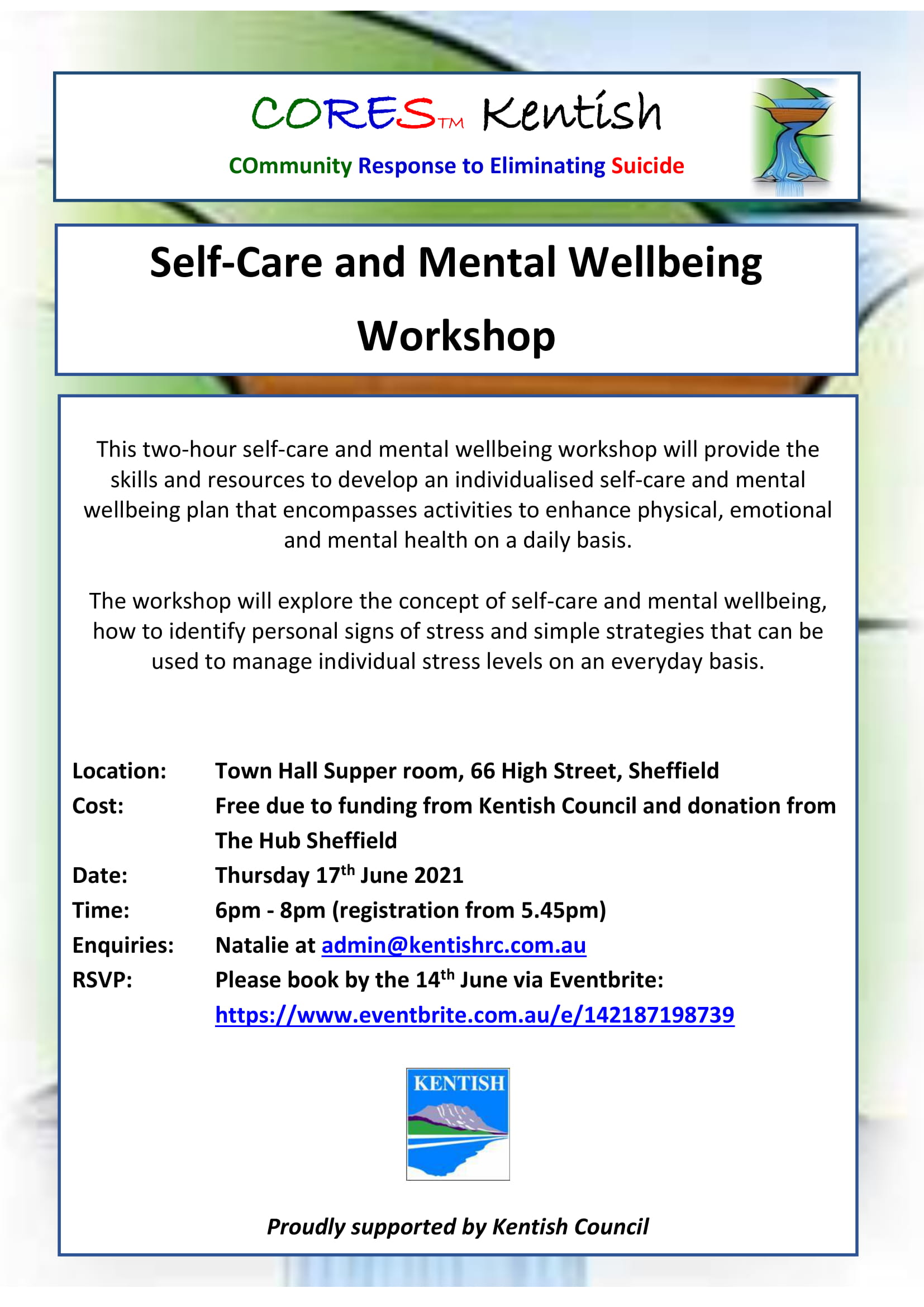 CORES Self-Care and Mental Wellbeing Kentish June 2021-1