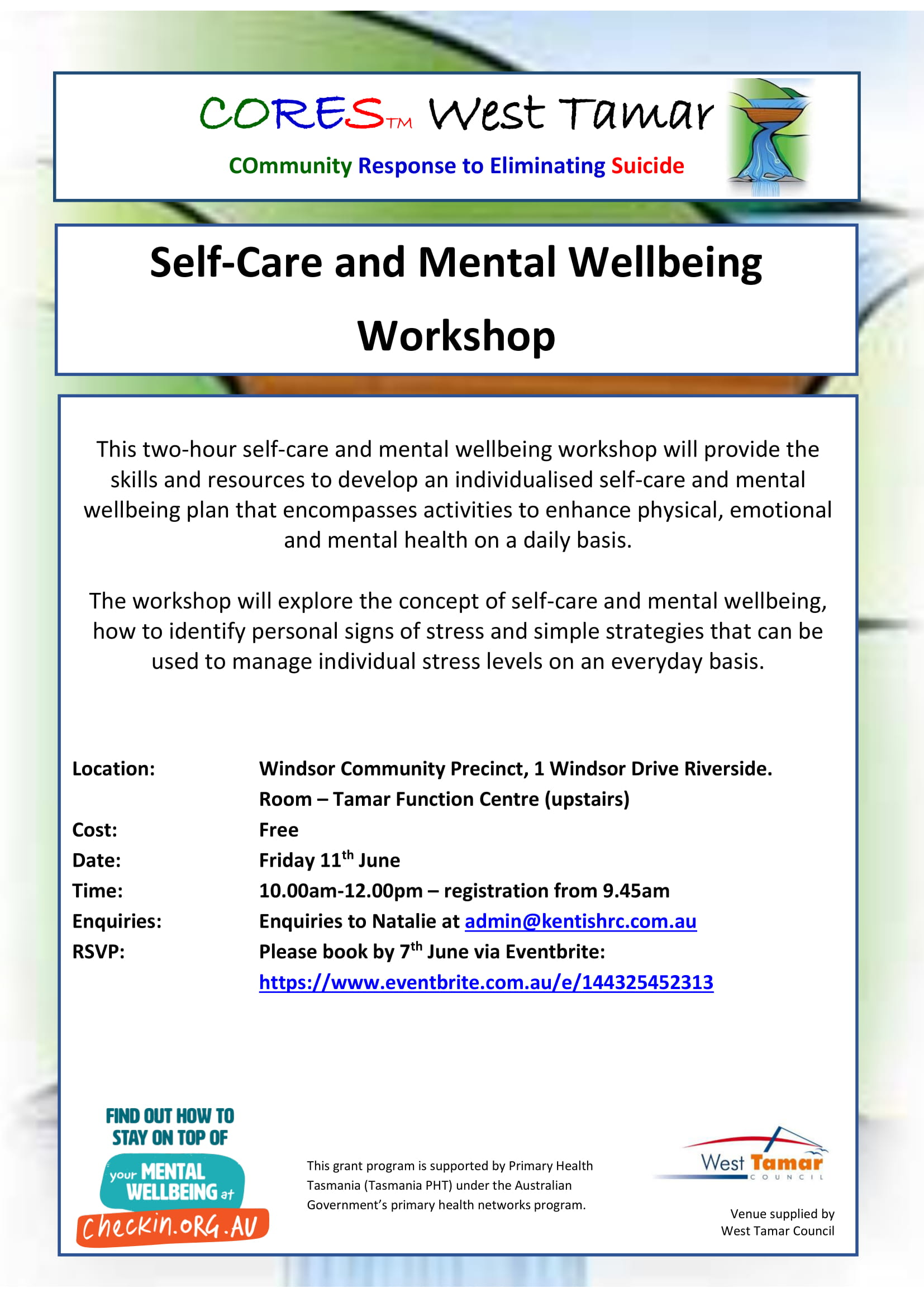 CORES Self-Care and Mental Wellbeing West Tamar June 2021-1