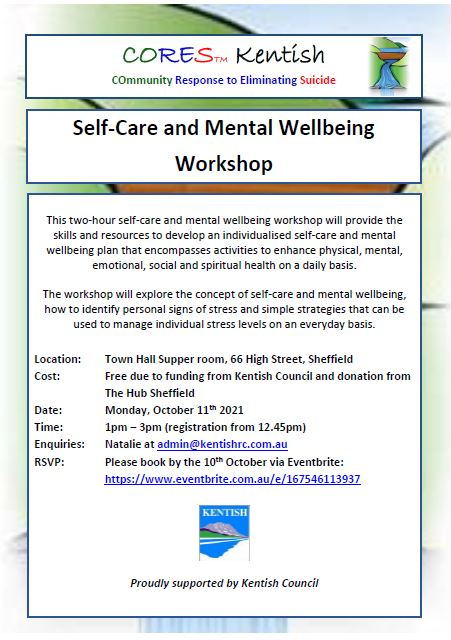 CORES Self-Care and Mental Wellbeing October Kentish